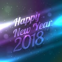 Gott nytt år 2018 backgorund med färgstark ljuseffekt