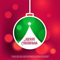 Fondo de diseño de feliz Navidad con efecto bokeh