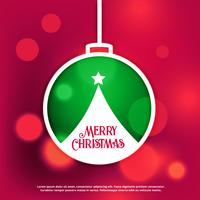 merry christmas design background with bokeh effect