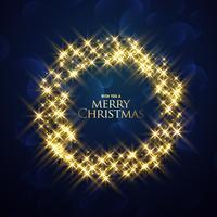 jul bakgrund med glitter ram design