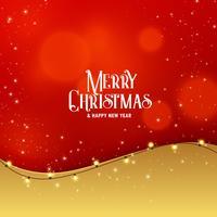 Diseño elegante de felicitación navideña premium con efecto de luz.