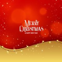 stylish premium christmas greeting design with light effect