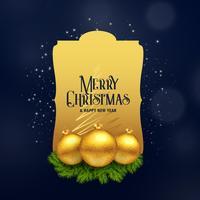 premium merry christmas achtergrond in gouden stijl
