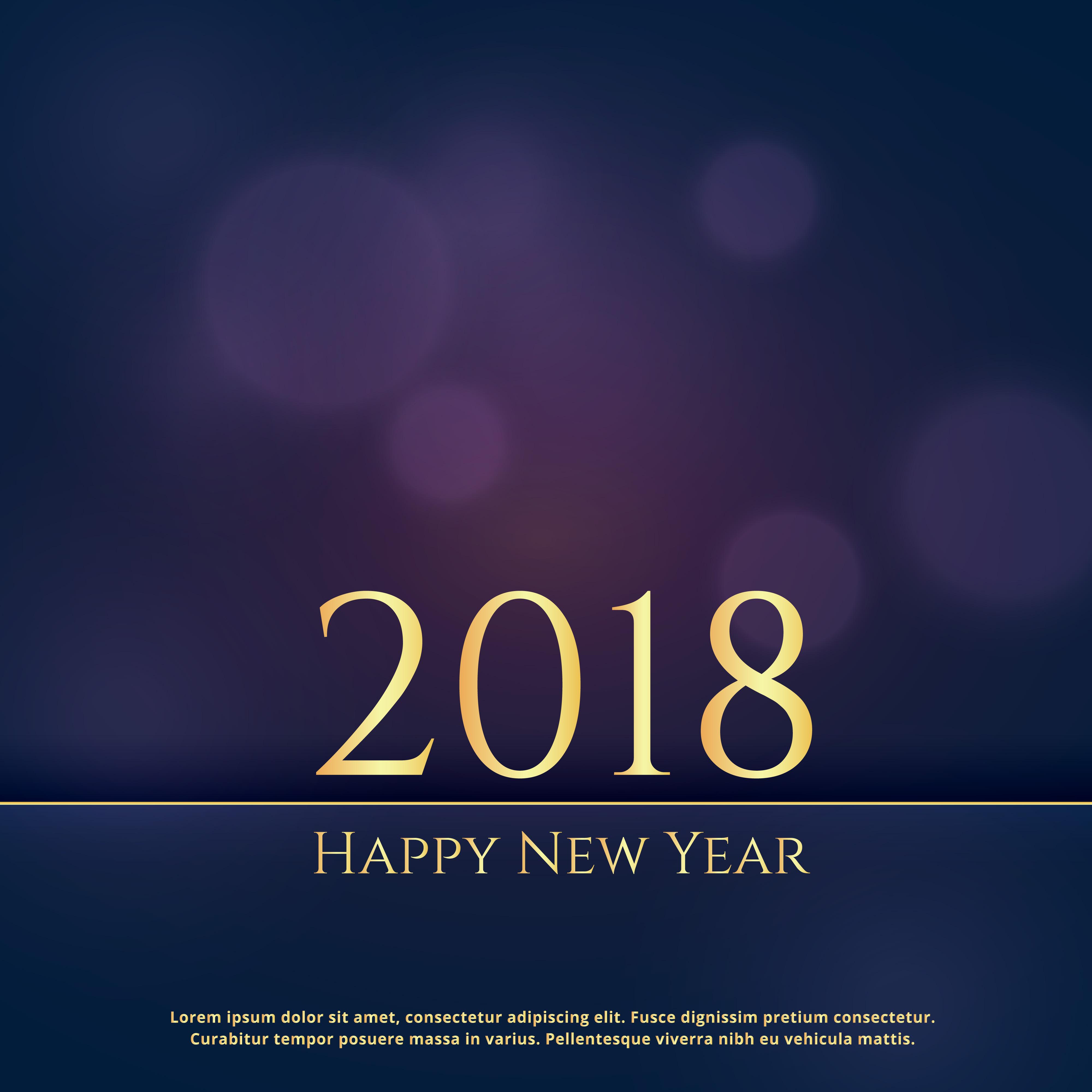Elegant premium 2018 new year greeting card design background elegant premium 2018 new year greeting card design background download free vector art stock graphics images kristyandbryce Choice Image