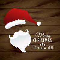 santa claus illustration on wooden background