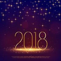 Glitterhintergrund 2018 mit Scheinen für guten Rutsch ins Neue Jahr