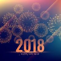 Gelukkig Nieuwjaar viering achtergrond met vuurwerk