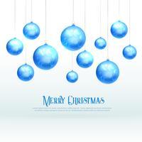 Impresionante diseño de bolas azules de navidad para la temporada de festivales de navidad.
