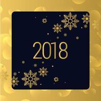 luxe gouden 2018 nieuw jaar achtergrondontwerp