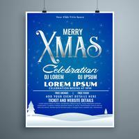 Plantilla de celebración de fiesta para vacaciones de navidad