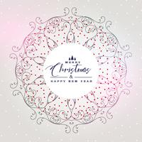 beautiful christmas background with mandala decoration