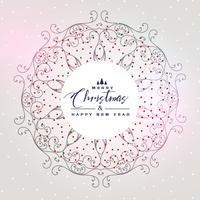 mooie kerst achtergrond met mandala decoratie