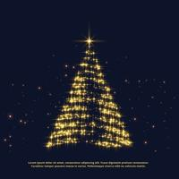 creative christmas glitter tree design with shiny effect