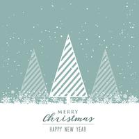 beautiful christmas background with creative tree design