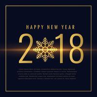 feliz ano novo 2018 texto escrito em estilo dourado