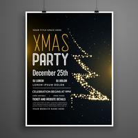 creative christmas party poster design in black color