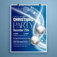 Diseño de flyer de cartel creativo para celebración de la fiesta de navidad.