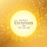 Fondo dorado premium para el festival de navidad.