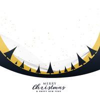 stilvoller Plakatentwurf der frohen Weihnachten mit Bäumen