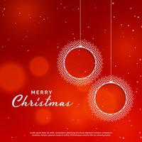 joyeux noël fond rouge avec boule de Noël ornementale