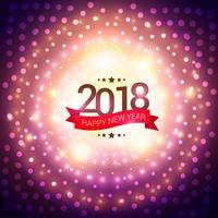 Frohes neues Jahr 2018 Party Einladung Hintergrund