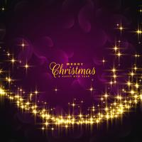 Destellos brillantes para el saludo festivo de navidad.