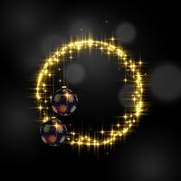 vackra gnistrar ram och hängande bollar med plats för din t