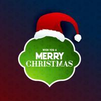 quadro de texto feliz Natal com design de Papai Noel