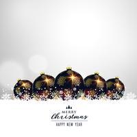Bolas de Navidad premium en diseño de fondo blanco