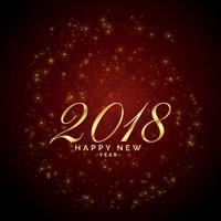 shiny sparkles red background for 2018 happy new year celebratio