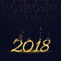 Gelukkig nieuw jaar 2018 gemaakt met glitter deeltjes achtergrond