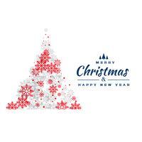 design criativo de árvore de Natal de flocos de neve vermelho e cinza