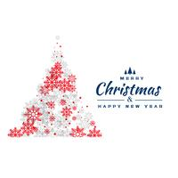 creative red and gray snowflakes christmas tree design