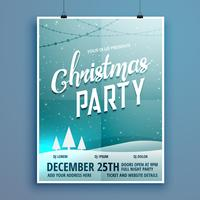 ontwerpsjabloon voor flyer van de partij van Kerstmis