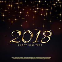 Fondo de festival brillo para feliz año nuevo 2018 saludo