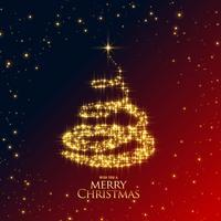 prachtige glanzende sparkles kerstboom ontwerp