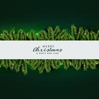 diseño de fondo de hojas de árbol de Navidad