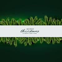 christmas tree leaves background design