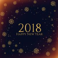 Fondo de temporada año nuevo copos de nieve oscura 2018