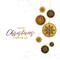 premium golden christmas balls seasonal greeting background