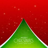 Fondo de diseño de árbol de Navidad verde creativo