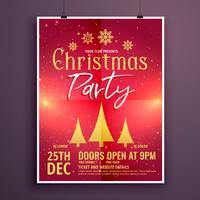 Kerst partij flyer ontwerpsjabloon kaart