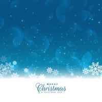 Frohe Weihnachten Schneeflocken Vektor Gruß