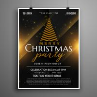 dark christmas celebration card invitation flyer template design