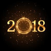 Brillo dorado fondo 2018 con destellos