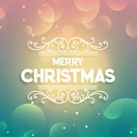 brillante colorido saludo de Navidad colorido fondo