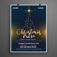 plantilla de diseño de cartel de navidad fiesta evento flyer creativo