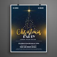 creative christmas party event flyer poster design template