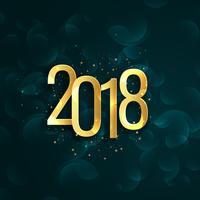 Gott nytt år 2018 bakgrund med text writtern i gyllene