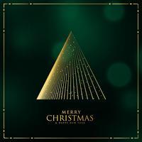 design de árvore de Natal feita com fundo de linhas